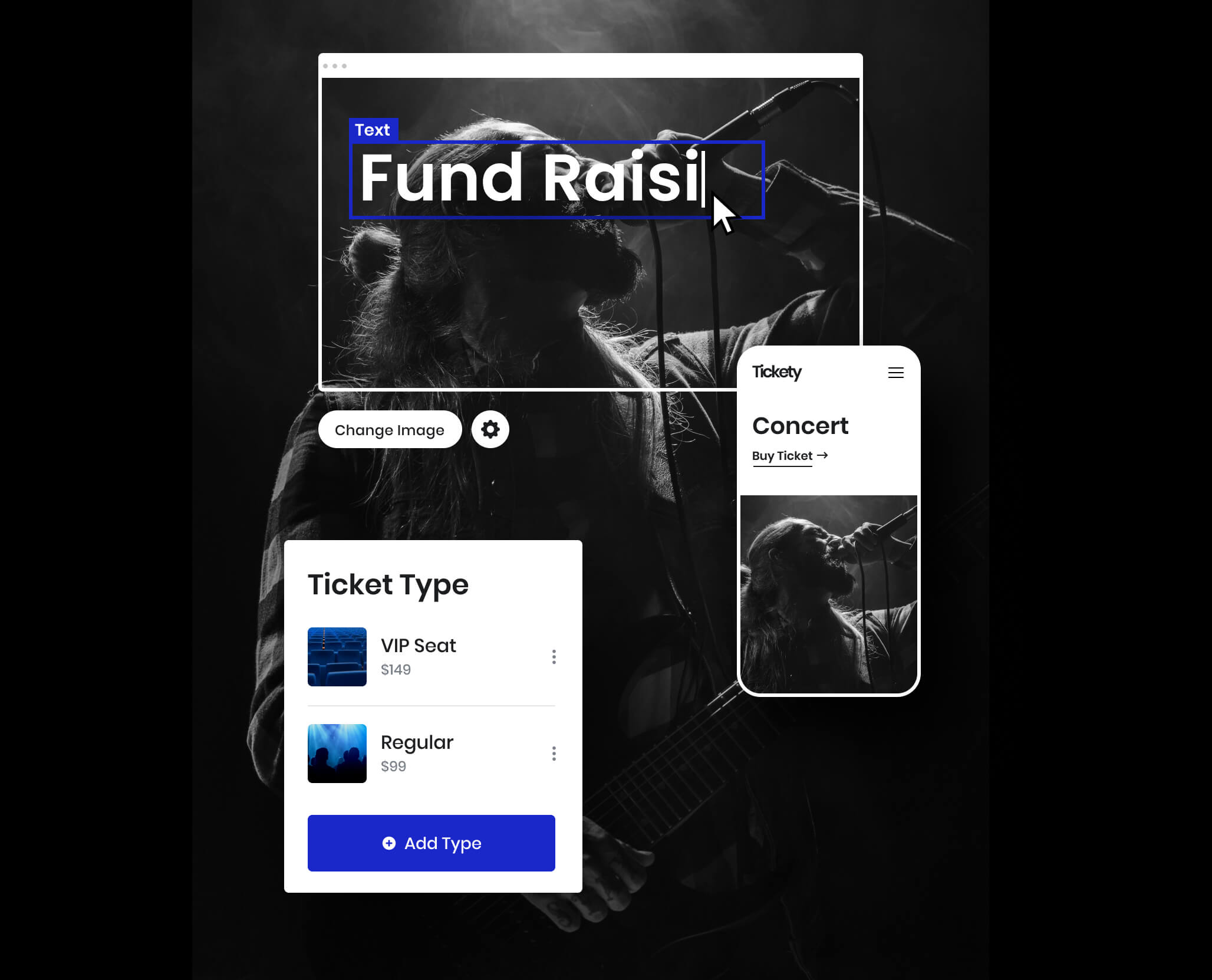 Sell event tickets on your site